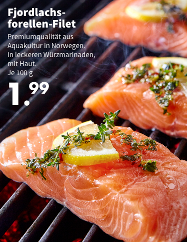 hot sale online bb952 dd027 Fjordlachs-Forellen-Filet - 1.99€ je 100g